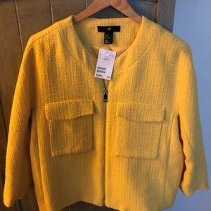 H&M yellow jacket-New!